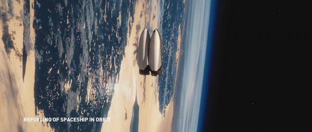 Tiếp nhiên liệu cho tàu vũ trụ.
