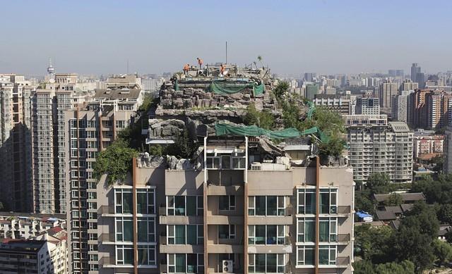 Nghĩ tới những căn penthouse, người ta thường nghĩ tới thiết kế hiện đại, sang trọng. Thế nhưng căn penthouse tại Bắc Kinh, Trung Quốc này lại mang một dáng vẻ rất rừng rú, thiên nhiên.