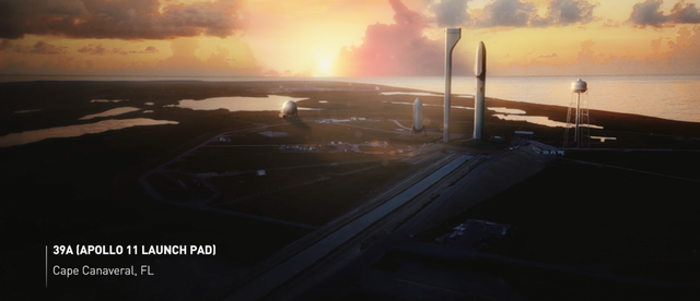 Tên lửa khổng lồ dự tính sẽ được phóng từ trung tâm NASA trong tương lai ở Cape Canaveral (Florida, Mỹ). ITS sử dụng bệ phóng 39A giống như bệ phóng đưa tàu Apollo 11 lên mặt trăng.