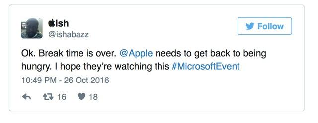 Giờ giải lao đã kết thúc rồi. Apple cần phải sáng tạo trở lại đi thôi. Tôi hy vọng họ có theo dõi sự kiện này.