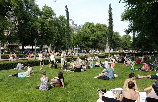 Công viên Esplanade Park, Helsinki, Phần Lan.