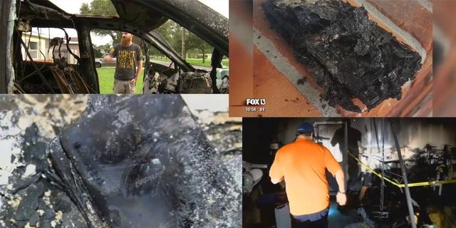 Những vụ cháy nhà, nổ xe được cho là có nguyên nhân từ Note 7.