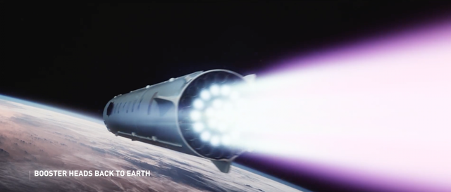 Trong khi đó, tên lửa đẩy sẽ quay về mặt đất.