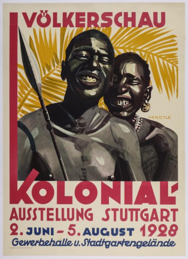 Một poster quảng cáo vườn thú người tại Đức vào năm 1928.
