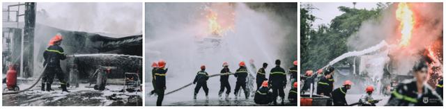 Vụ cháy cây xăng Sang Mạn nằm ở khu vực chợ đầu mối, nên lửa bắt rất nhanh. Với hơn 150 chiến sĩ tham gia cứu hộ, đám cháy được dập tắt hoàn toàn sau 30.