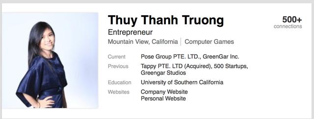 Profile của Thủy trên Linkedin.