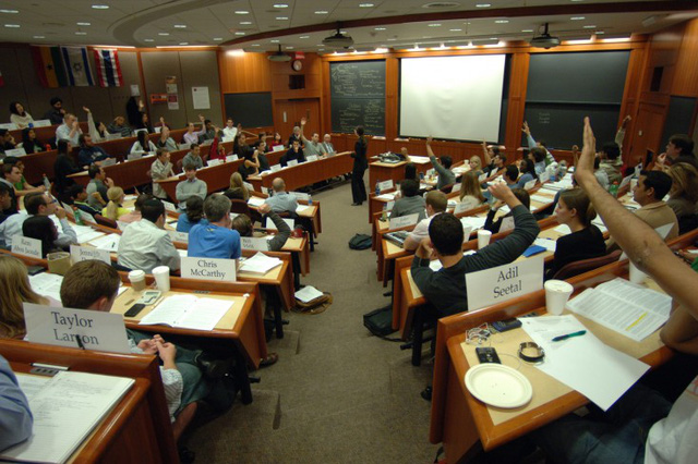 Một lớp học tại Harvard