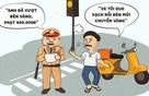 Hí họa về quy định phạt lỗi vượt đèn vàng như đèn đỏ