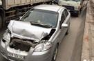 """7 ô tô đâm nhau liên hoàn trên cầu Thanh Trì, một xe taxi bị """"vò nát"""""""