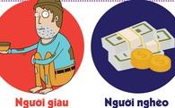 [Infographic] Người giàu khác người nghèo những gì?