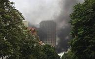 Hà Nội: Cháy tại khu đô thị Xa La, khói đen bốc cao hàng chục mét