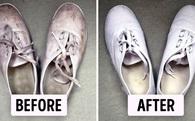 """""""Tắm trắng"""" giày thể thao chỉ với 3 bước cực đơn giản sau"""