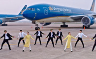 """Clip nhảy trên nền nhạc """"Bống bống bang bang"""" của dàn tiếp viên, phi công Vietnam Airlines gây sốt"""
