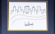 Đây là bức tranh vẽ New York của Tổng thống Trump, vừa được bán với giá khởi điểm 9.000 USD