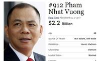 Vì sao ông Phạm Nhật Vượng vẫn là tỷ phú USD duy nhất của Việt Nam trên Forbes?