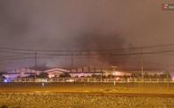 Cháy lớn trong đêm tại nhà máy ô tô Trường Hải Quảng Nam