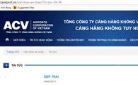 Website cảng hàng không bị sập: Không phải là tấn công có chủ đích