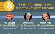 """[Infographic] """"Trùm"""" tài chính, tỷ phú thế giới nói gì về Bitcoin?"""