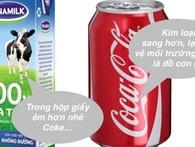 Vì sao sữa tươi Vinamilk đựng trong hộp chữ nhật, còn Coca lại chứa trong lon trụ tròn?