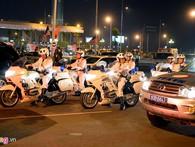 Đoàn xe đặc chủng đón Tổng thống Obama tại Hà Nội
