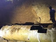 Đường ống sông Đà vỡ lần thứ 18: Không có thời gian tìm nguyên nhân