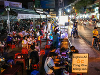 Cận cảnh khu tập kết hàng rong hợp pháp đầu tiên ở chợ Phạm Văn Hai Sài Gòn