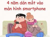 Cả cuộc đời, mỗi người chỉ dành 4 tháng để cười nhưng những 4 năm dán mắt vào smartphone!