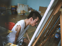 Gặp chàng trai Việt vẽ tranh bằng miệng trong phim được đề cử tranh giải Oscar 2016