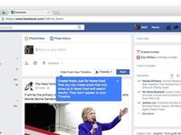 Facebook cho đăng bài News Feed nhưng ẩn trên Timeline