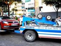 Cuộc chiến giành lại vỉa hè: Niêm phong, cẩu ôtô vi phạm