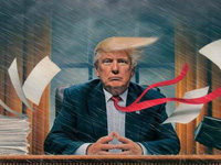 Ông Trump 'trong mưa gió ở Nhà Trắng' lên bìa của TIME