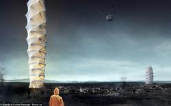 Thiết kế nhà cao hàng chục tầng gấp lại được như Origami dành cho vùng thiên tai đạt giải kiến trúc của năm
