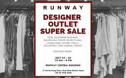 Runway Designer Outlet sự kiện siêu giảm giá hàng hiệu quốc tế.