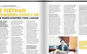 Trả lời báo Pháp, Bộ trưởng Công thương khẳng định vai trò cửa ngõ của Việt Nam giữa Liên minh châu Âu và ASEAN