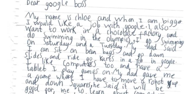 Cô bé 7 tuổi viết thư xin việc tại Google và nhận được hồi đáp bất ngờ của CEO Sundar Pichai