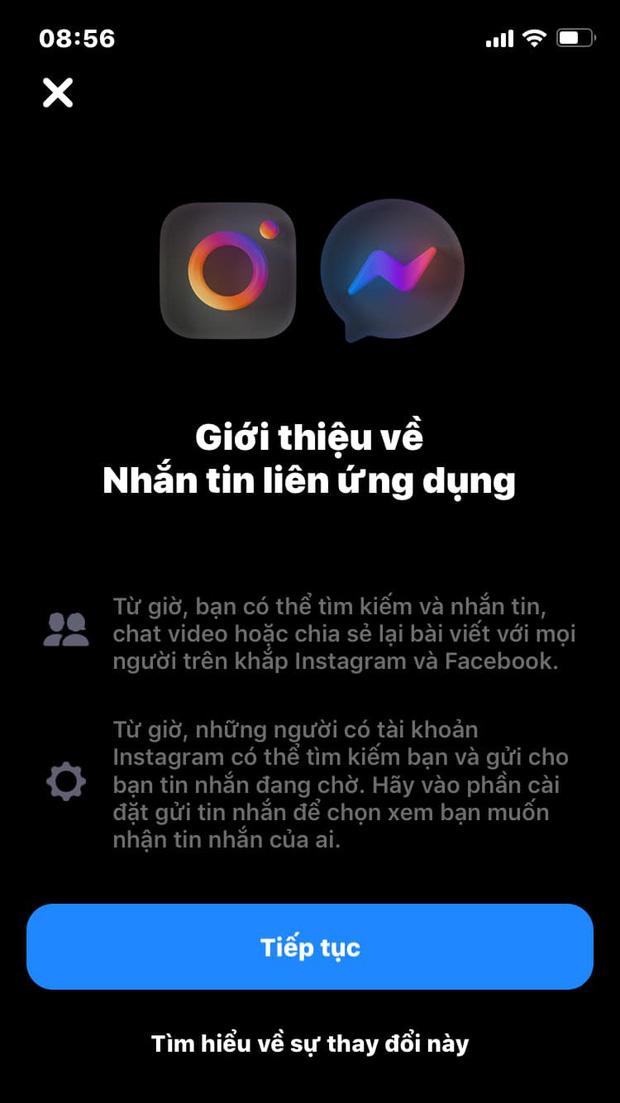 Chính thức: Facebook Messenger và Instagram đã cho nhắn tin chung, bạn thử chưa? - Ảnh 1.