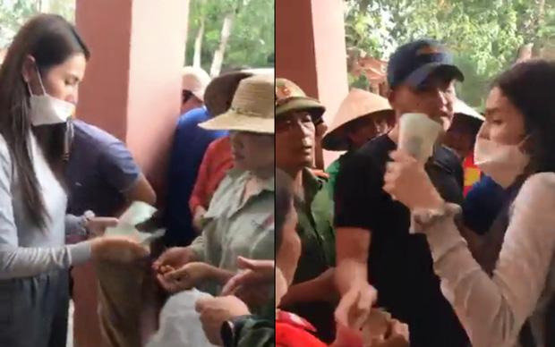 Thuỷ Tiên tuyên bố sẽ thu lại phiếu và không phát tiền cứu trợ vì tình trạng người dân chen lấn hỗn loạn, thiếu an toàn - Ảnh 2.
