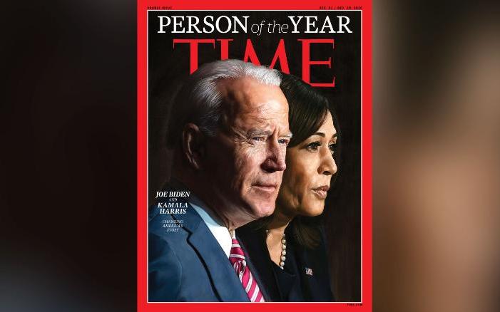 Ông Joe Biden và bà Harris được tạp chí Time bình chọn là Nhân vật của năm 2020