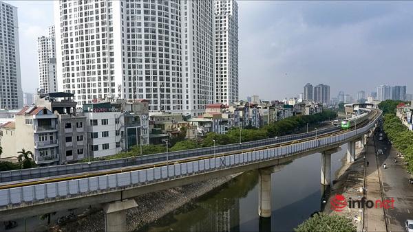Hình ảnh đoàn tàu Cát Linh - Hà Đông trong ngày đầu chạy thử - Ảnh 5.