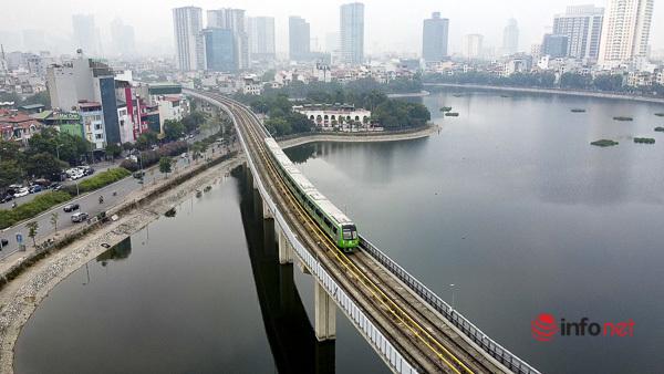 Hình ảnh đoàn tàu Cát Linh - Hà Đông trong ngày đầu chạy thử - Ảnh 6.