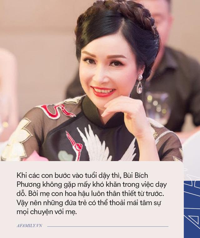Hoa hậu Bùi Bích Phương: Ngày đăng quang được tặng chiếc xe đạp, giờ là doanh nhân giàu có, cách dạy con cực khác biệt  - Ảnh 5.