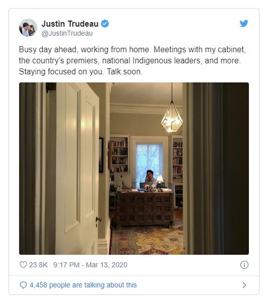 Vợ bị cách ly, Thủ tướng Canada vừa chăm 3 con, dọn dẹp, giặt giũ vừa điều hành đất nước trực tuyến - Ảnh 2.