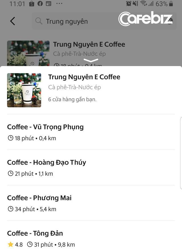 Chuỗi cà phê Trung Nguyên Legend và E-Coffee tạm dừng phục vụ tại chỗ, chuyển sang mô hình take away và bán qua Now, GrabFood - Ảnh 1.
