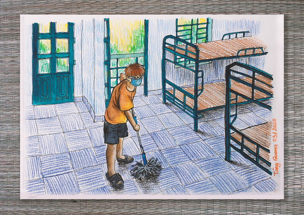 DHS Anh vẽ khu cách ly xinh xẻo như trong truyện tranh: Ở đâu cũng đẹp, miễn là mình còn yêu đời!  - Ảnh 11.