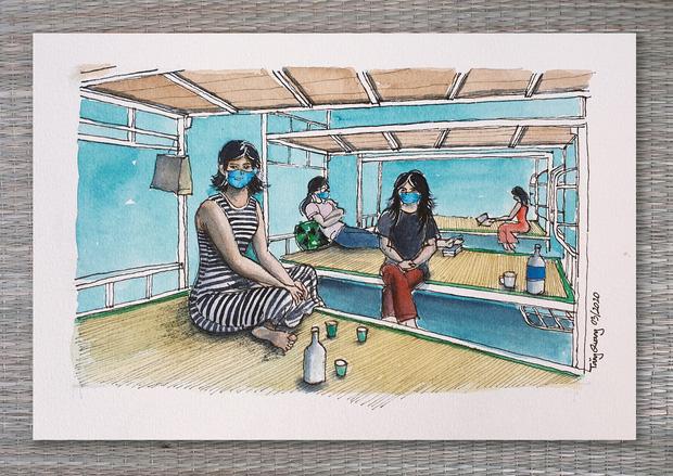 DHS Anh vẽ khu cách ly xinh xẻo như trong truyện tranh: Ở đâu cũng đẹp, miễn là mình còn yêu đời!  - Ảnh 15.