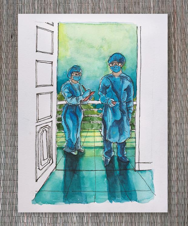 DHS Anh vẽ khu cách ly xinh xẻo như trong truyện tranh: Ở đâu cũng đẹp, miễn là mình còn yêu đời!  - Ảnh 9.