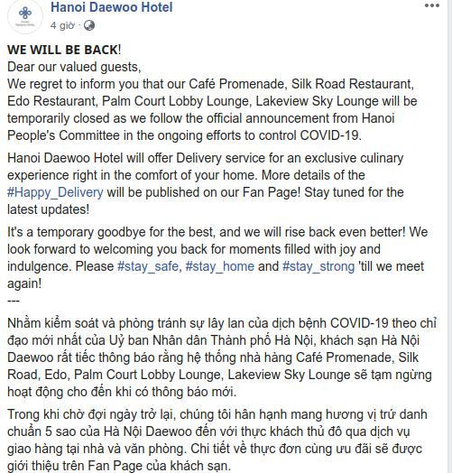 Cách các khách sạn 5 sao Hà Nội và Tp. HCM ứng phó với Covid-19: Giao phở tận nơi, gửi đầu bếp hạng sang đến nhà khách để chế biến, phục vụ - Ảnh 2.