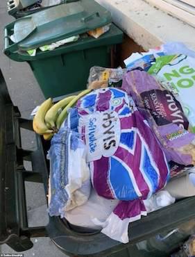 Thực phẩm hết hạn chất đầy thùng rác ở Anh sau cuộc hoảng loạn tích trữ vì COVID-19 - Ảnh 3.