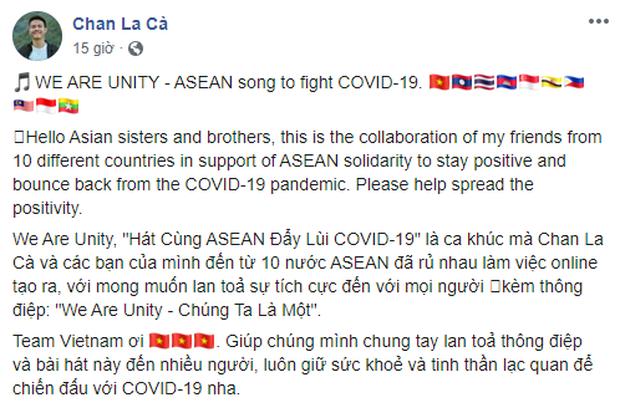 Gửi gắm thông điệp lạc quan chống dịch, vlogger Chan La Cà hoà giọng We are unity cùng bạn bè trong khối ASEAN - Ảnh 8.