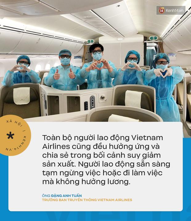 Đại diện Vietnam Airlines: Toàn bộ người lao động sẵn sàng tạm ngừng việc hoặc đi làm mà không hưởng lương - Ảnh 2.
